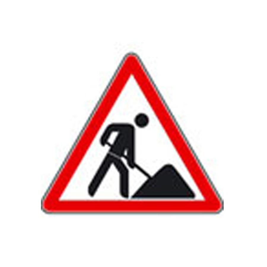 Bauarbeiter zeichnung  Baustellenschild Motiv: Bauarbeiter