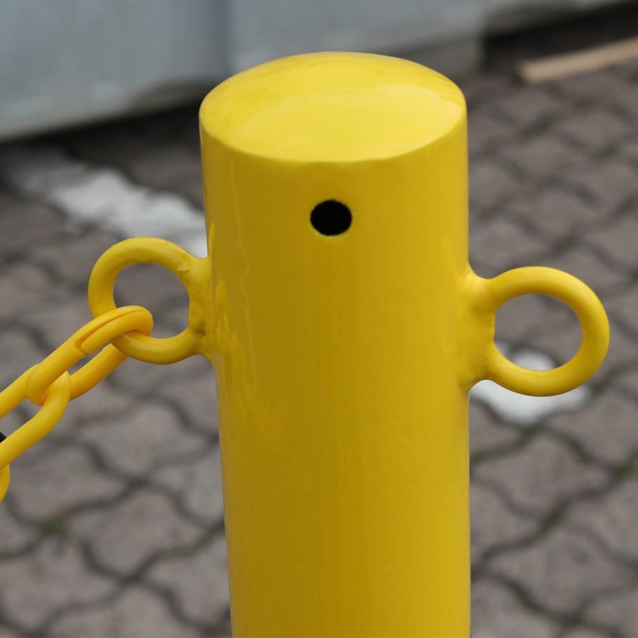 Kettenpfostenset aus Kunststoff gelb-schwarz