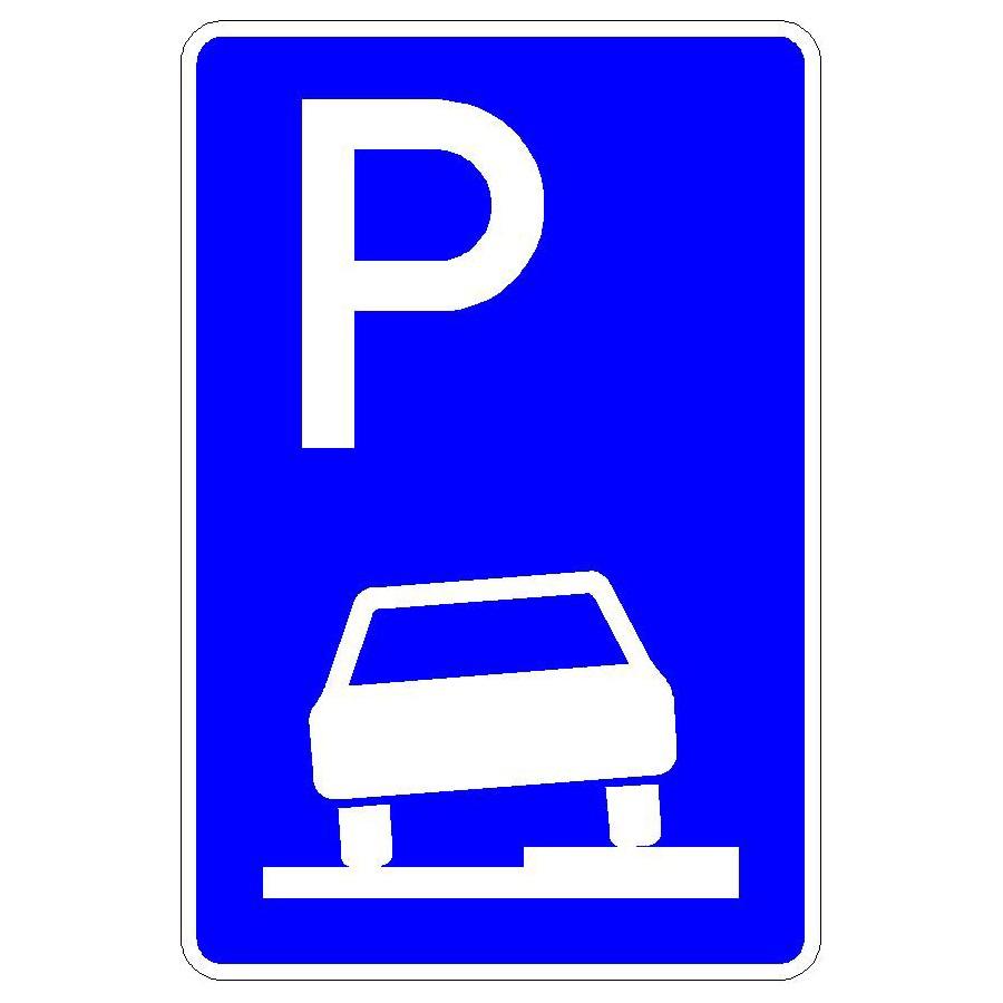 Verkehrszeichen (315-55) - StVO Parken auf Gehwegen