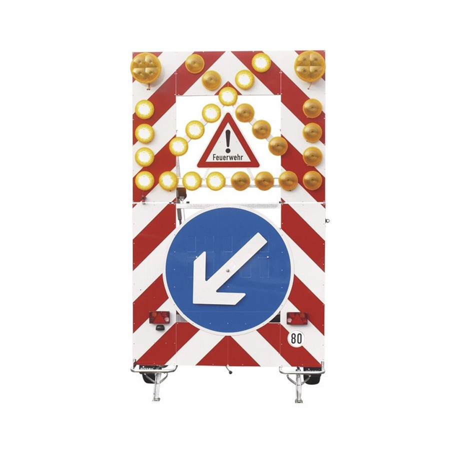 Fahrbare Absperrtafel VSA-Feuerwehr  als Vorführer kurzfristig verfügbar