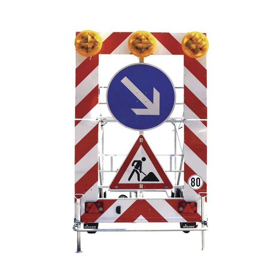 Fahrbare Absperrtafel Typ B 1_Verkehrszeichen 615