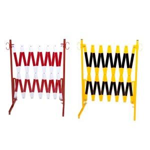 Scherengitter rot/weiß und schwarrz/gelb