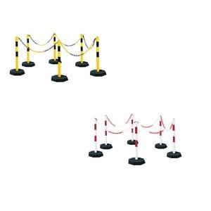 Kettenpfostenset in rot-weiß oder gelb-schwarz