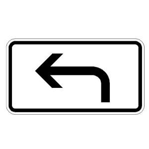 Verkehrszeichen (1000-11) -Zusatzszeichen nach StVO Richtung der Gefahrenstelle, linksweisend