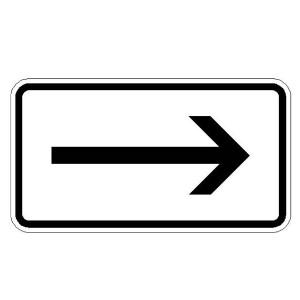 Verkehrszeichen (1000-20) -Zusatzszeichen nach StVO Richtung rechtsweisend