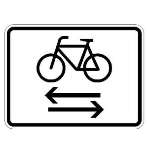 Verkehrszeichen (1000-32) -Zusatzszeichen nach StVO Radfahrer kreuzen von rechts und links
