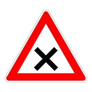 Verkehrszeichen (102) - StVO Kreuzung oder Einmündung mit Vorfahrt von rechts