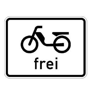 Verkehrszeichen (1022-11) -STVO StVO Mofas frei