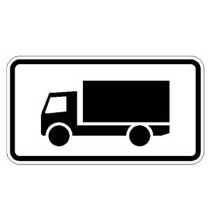 Verkehrszeichen (1024-12) -Kraftfahrzeuge mit einer zul. Gesamtmasse über 3,5 t, einschl. ihrer Anhänger und Zugmaschinen