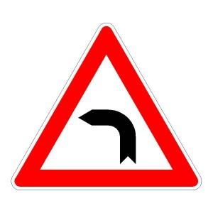 Verkehrszeichen (103-10) - StVO Kurve (links)