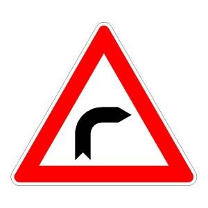 Verkehrszeichen (103-20) - StVO Kurve (rechts)