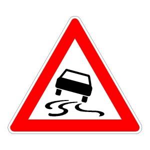 Verkehrszeichen (114) - StVO Schleudergefahr bei Nässe oder Schmutz