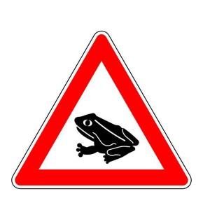 Verkehrszeichen (101-14) - StVO Amphibienwanderung