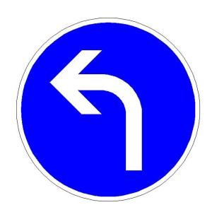 Verkehrszeichen (209-10) -  StVO Vorgeschriebene Fahrtrichtung - links
