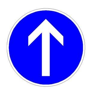 Verkehrszeichen (209-30) -  StVO Vorgeschriebene Fahrtrichtung - geradeaus