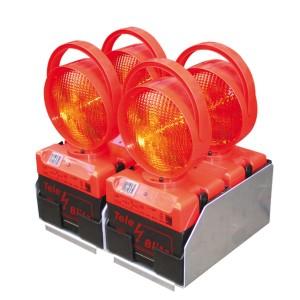 Lade- und Transportbox für 4 Tele-Blitz (im Quadrat)