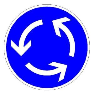 Verkehrszeichen (215) -  StVO Kreisverkehr