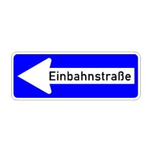 Verkehrszeichen (220-10) -  StVO Einbahnstraße (linksweisend)