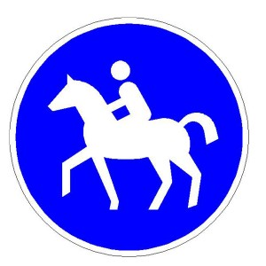 Verkehrszeichen (238) -  StVO Sonderweg Reiter