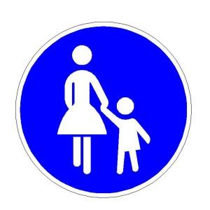 Verkehrszeichen (239) -  StVO Sonderweg Fußgänger