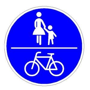 Verkehrszeichen (240) -  StVO Gemeinsamer Fuß- und Radweg
