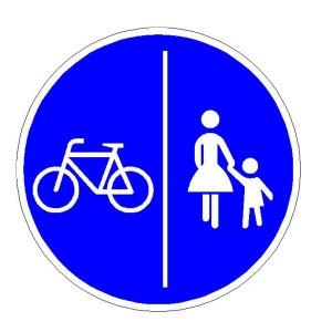 Verkehrszeichen (241-30) -  StVO Getrennter Rad- und Fußweg