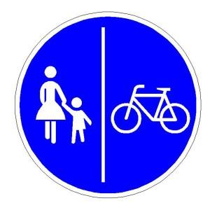 Verkehrszeichen (241-31) -  StVO Getrennter Fuß- und Radweg