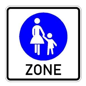 Verkehrszeichen (242) -  StVO Beginn eines Fußgängerbereichs