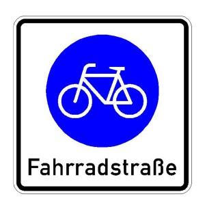 Verkehrszeichen (244) -  StVO Beginn einer Fahrradstraße