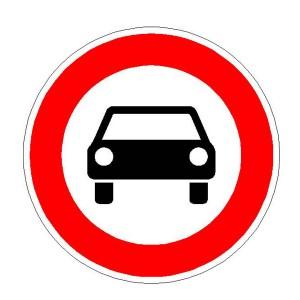Verkehrszeichen (251) -  StVO Verbot für Kraftwagen und sonstige mehrspurige Kraftfahrzeuge