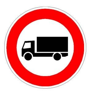 Verkehrszeichen (253) - StVO Verbot für Kraftfahrzeuge mit einem zulässigen Gesamtgewicht über 3,5 t, einschl. ihrer Anhänger und Zugmaschinen,ausgenommen Personenkraftwagen und Kraftomnibus