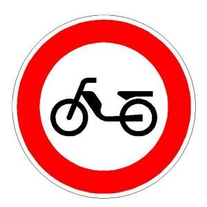 Verkehrszeichen (256) -  StVO Verbot für Mofas