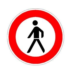 Verkehrszeichen (259) -  StVO Verbot für Fußgänger