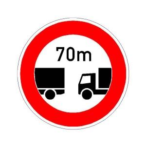 Verkehrszeichen (273) - StVO Verbot des Fahrens ohne einen Mindesabstand
