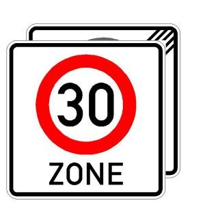 Verkehrszeichen (274.2-40) -  StVO Beginn/Ende der Zone mit zulässiger Höchstgeschwindigkeit