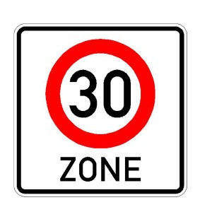 Verkehrszeichen (274.1-50) -  StVO Beginn der Zone mit zulässiger Höchstgeschwindigkeit