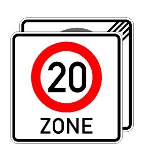 Verkehrszeichen (274.2-41) -  StVO Beginn/Ende der Zone mit zulässiger Höchstgeschwindigkeit