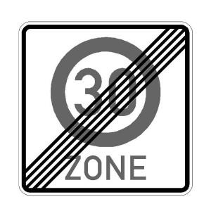 Verkehrszeichen (274.2-50) -  StVO Ende der Zone mit zulässiger Höchstgeschwindigkeit