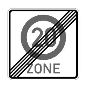 Verkehrszeichen (274.2-51) -  StVO Ende der Zone mit zulässiger Höchstgeschwindigkeit