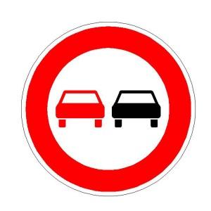 Verkehrszeichen (276) - StVO Überholverbot für Kfz aller Art
