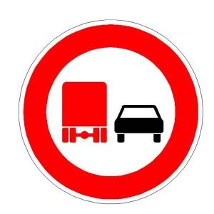 Verkehrszeichen (277) - StVO Überholverbot für Kfz mit einem zulässigen Gesamtgewicht über 3,5t