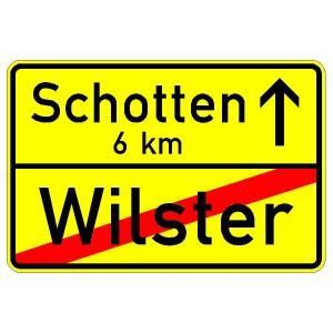 Verkehrszeichen (311-40) - StVO Ortstafel (doppelseitig)