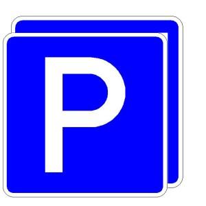 Verkehrszeichen (314-40) - StVO Parkplatz (doppelseitig)