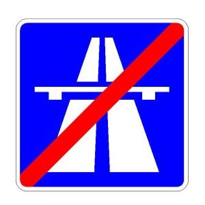 Verkehrszeichen (334) - StVO Ende der Autobahn