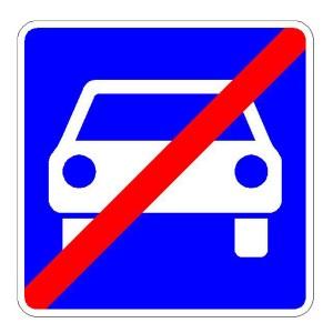 Verkehrszeichen (336) - StVO Ende der Kraftfahrtstraße