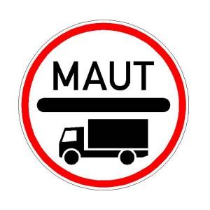 Verkehrszeichen (390) - StVO  Mautpflicht nach dem Bundesfernstraßenmautgesetz