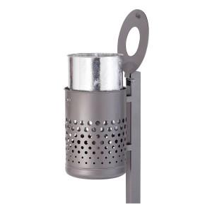 Stand-Abfallbehälter ca. 50 L feuerverzinkt und beschichtet DB 703 Produktbeispiel