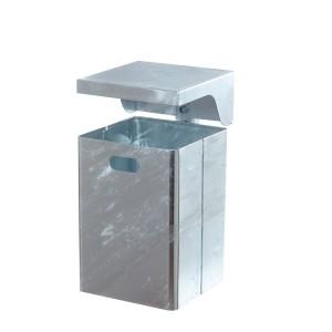 Rechteck-Abfallbehälter mit Dach feuerverzinkt Produktbeispiel