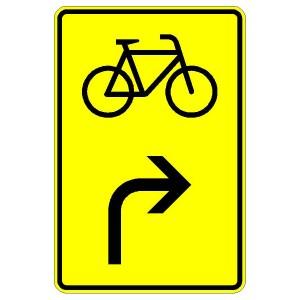 Verkehrszeichen (442-20)-  StVO Vorwegweiser für Fahrradfahrer (rechtsweisend)
