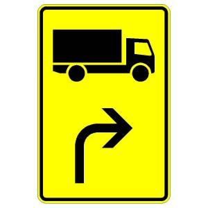 Verkehrszeichen (442-21)-  StVO Vorwegweiser für Lastkraftwagen (rechtsweisend)
